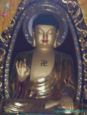 Budda con svastica